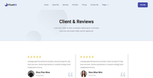 FloatKit - Personal Resume Elementor Template Kit