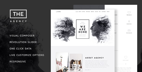 The Agecy - Creative One Page Agency Theme - Creative WordPress