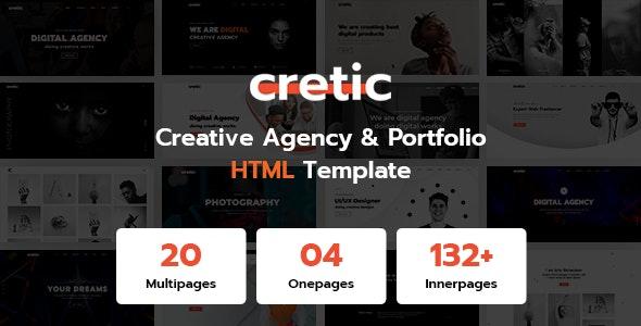 Cretic - Creative Agency Portfolio HTML Template - Portfolio Creative