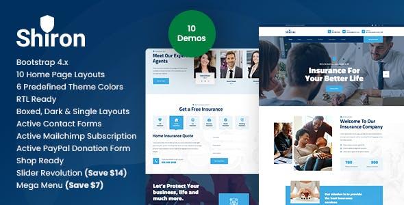 Shiron - Insurance Finance HTML