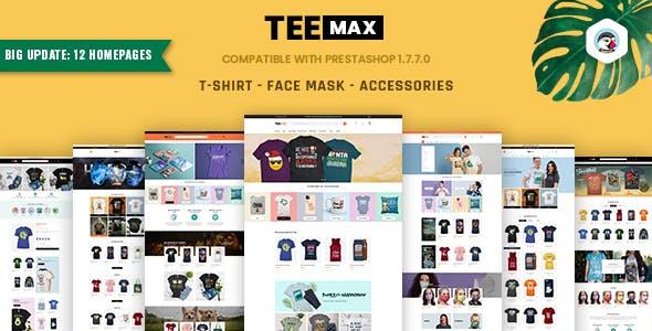 TeeMax | Fashion & POD T-Shirt Store Prestashop 1.7 Theme