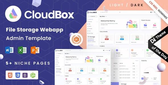 CloudBox   VueJS, HTML File Storage Admin Dashboard Template - Admin Templates Site Templates