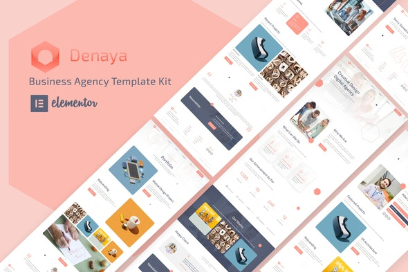 Denaya - Business Agency Elementor Template Kit - Business & Services Elementor