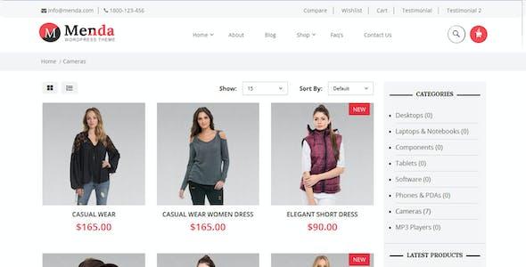 Menda - Ecommerce Wordpress Themes