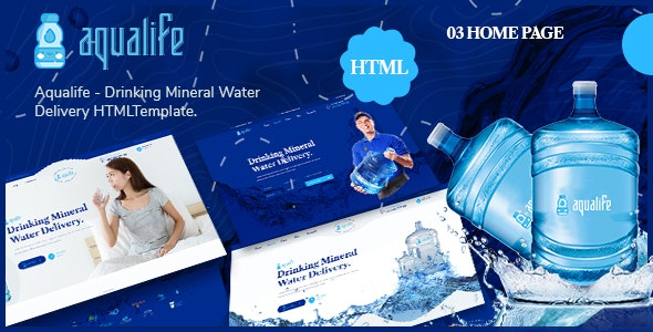 Aqualife - Drinking Mineral Water Delivery HTML5 Template - Retail Site Templates