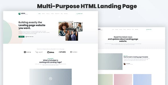 Legaland - Multi-Purpose HTML Landing Page Template for Business and Marketing