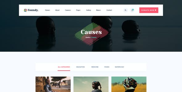 Foundy - Charity PSD Template