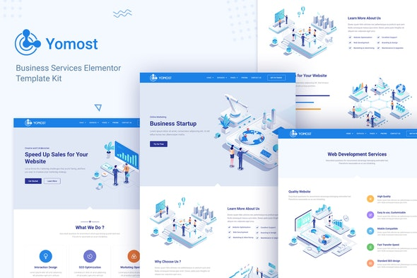 Yomost - Business Services Elementor Template Kit - Business & Services Elementor