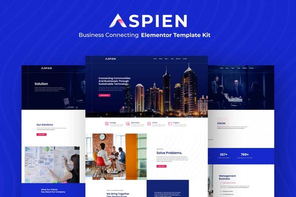 Aspien - Business Connecting Elementor Template Kit - Business & Services Elementor