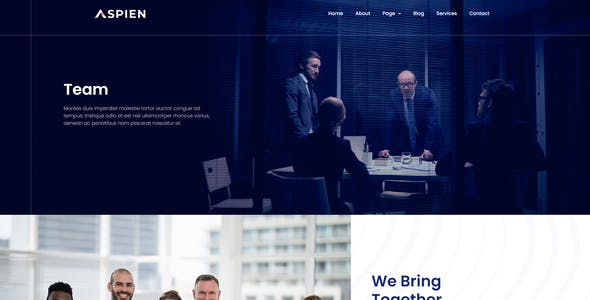Aspien - Business Connecting Elementor Template Kit