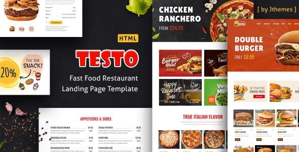 Testo - Pizza Caffe Restaurant Bootstrap 5 & 4 HTML Template