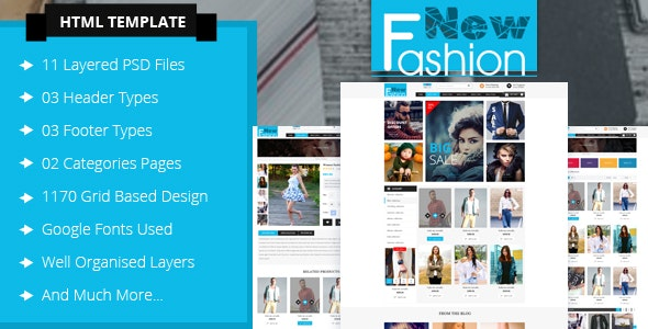 Fashion eCommerce Html Template - Fashion Retail