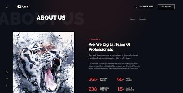 Digens - Digital Agency Figma UI Template
