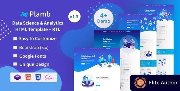 Plamb - Data Science & Analytics HTML Template