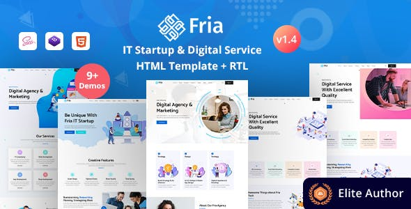 Fria - IT Startups & Digital Services HTML Template
