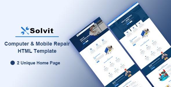 Solvit - Computer & Mobile Repair HTML Template