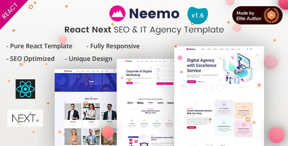 Neemo - React Next SEO & IT Agency Template