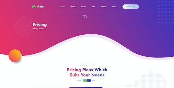 Xshapp - Multipage App Landing XD Template