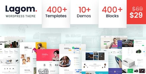 Lagom - Multi Concept MultiPurpose WordPress Theme - Corporate WordPress