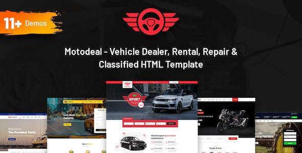 Motodeal - Car Dealer & Classified HTML5 Template