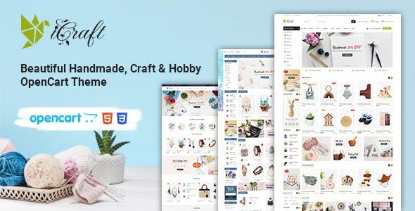 iCraft - Handmade, Craft & Hobby Minimal OpenCart Theme