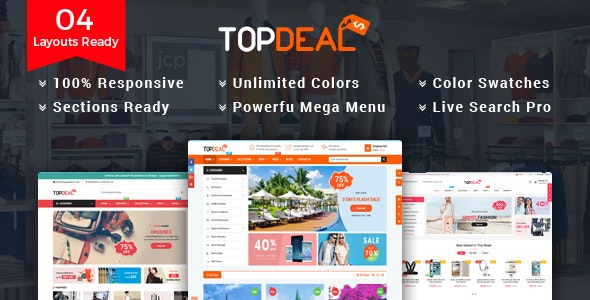 TopDeal - Multipurpose Shopify Theme with Sectioned Drag & Drop Builder - Shopify eCommerce
