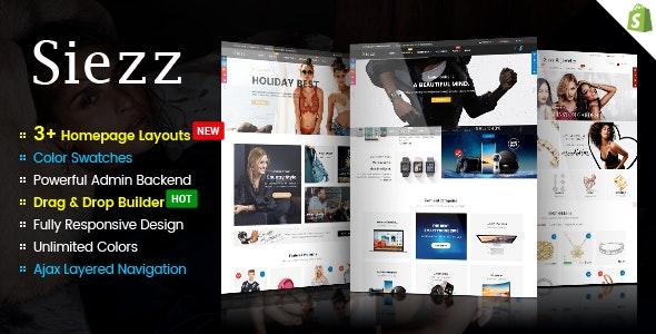 Siezz - Advanced Drag & Drop Responsive Shopify Theme - Shopify eCommerce