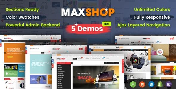 MaxShop - Advanced Multipurpose Shopify Sections Theme - Shopify eCommerce