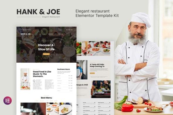 Hank & Joe – Elegant Restaurant Elementor Template Kit - Food & Drink Elementor
