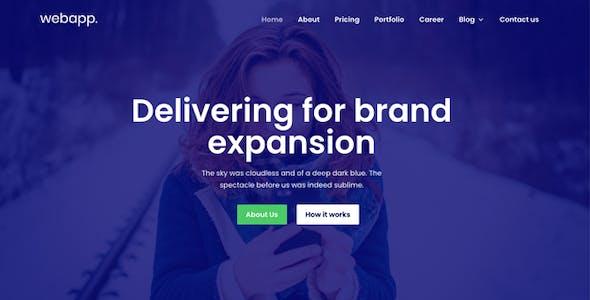 SEO, SaaS and Digital Marketing Theme WordPress - Webapp