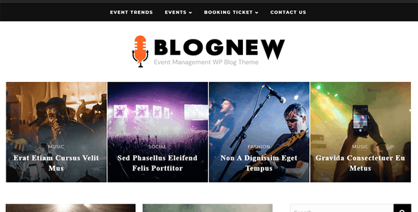 Blognew – Event Management WordPress Blog Theme