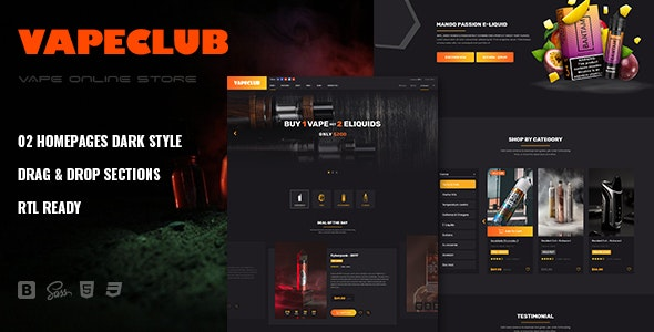 VapeClub | Electronic Cigarettes & Accessories Shopify Theme - Shopping Shopify