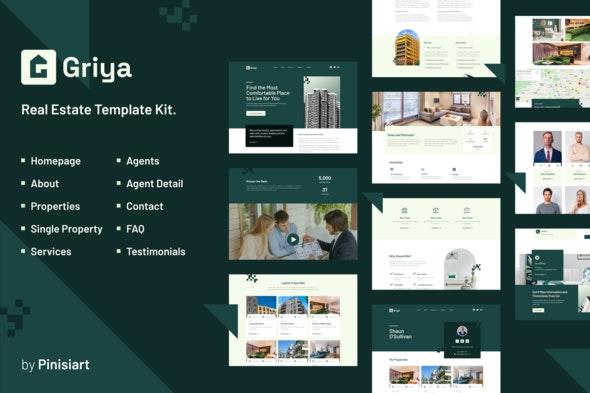Griya | Real Estate Elementor Template Kit - Real Estate & Construction Elementor