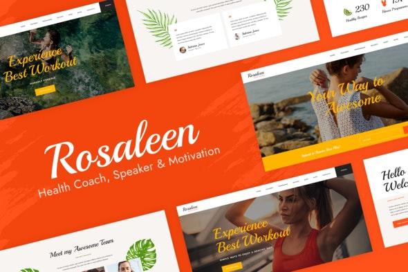 Rosaleen - Health Coach & Motivational Speaker Elementor  Template Kit - Health & Medical Elementor