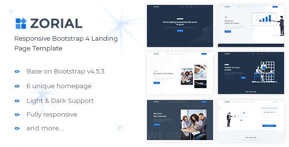 Zorial - Landing Page Template - Landing Pages Marketing