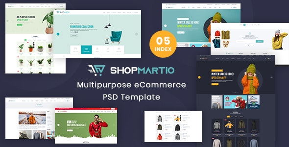 ShopMartio - Multipurpose eCommerce PSD Template - Shopping Retail