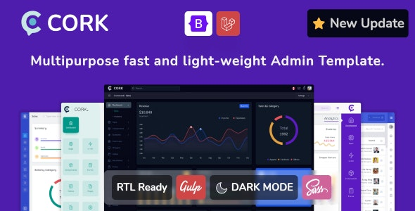 Cork - Responsive Admin Dashboard Template - Admin Templates Site Templates