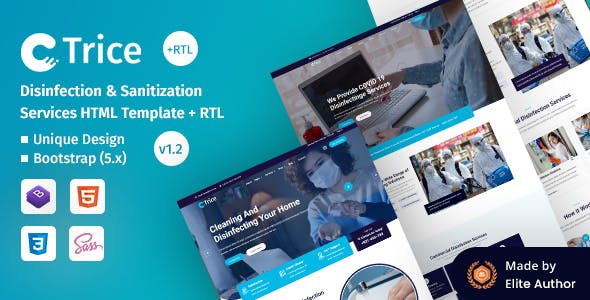 Trice - Disinfection & Sanitization Services HTML Template