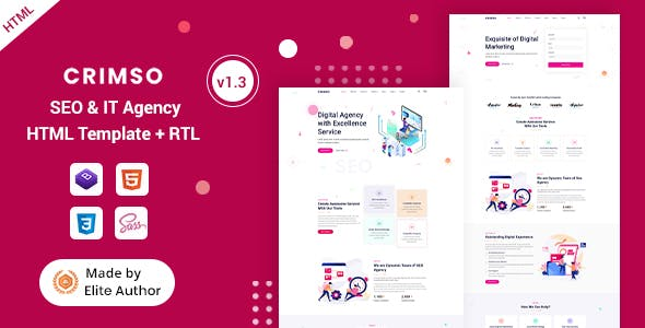 Crimso - SEO & IT Agency HTML Template
