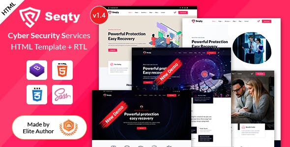 Seqty - Cyber Security Services Company HTML Template