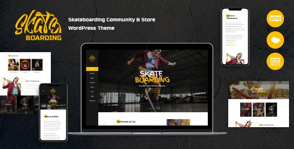 Skateboarding Community & Store WordPress Theme - Retail WordPress