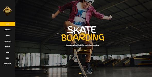 Skateboarding Community & Store WordPress Theme