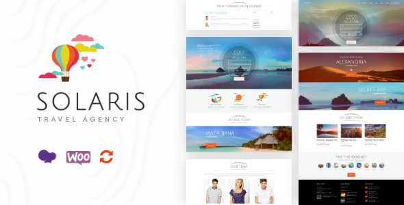 Solaris | Travel Agency and Tour Booking Tourism  WordPress Theme - Travel Retail