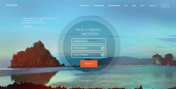 Solaris | Travel Agency and Tour Booking Tourism  WordPress Theme