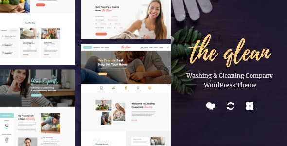 The Qlean | Housekeeping: Washing & Cleaning Company WordPress Theme - Business Corporate
