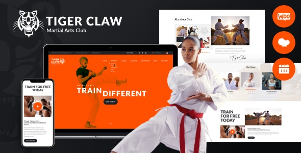 Tiger Claw Martial Arts School And Fitness Center Wordpress Theme By Themerex