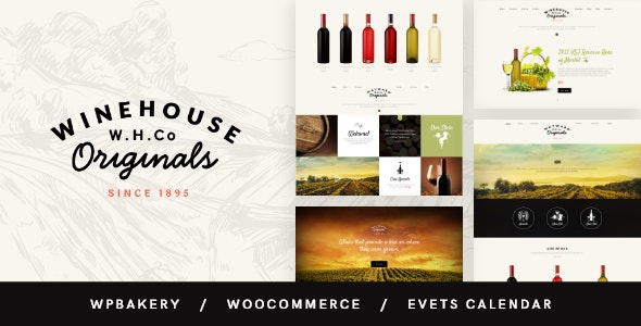 Wine House | Vineyard & Restaurant Liquor Store WordPress Theme - Restaurants & Cafes Entertainment