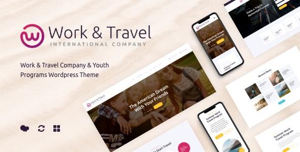Work & Travel Company & Youth Programs WordPress Theme - Corporate WordPress