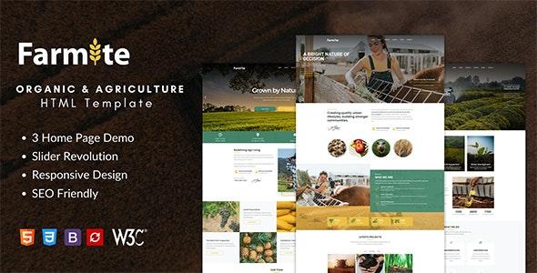 Farmite - Organic & Agriculture Food HTML Template - Food Retail