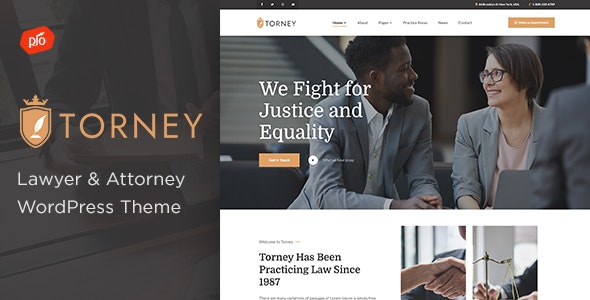 Torney - Lawyer & Attorney Theme - Business Corporate